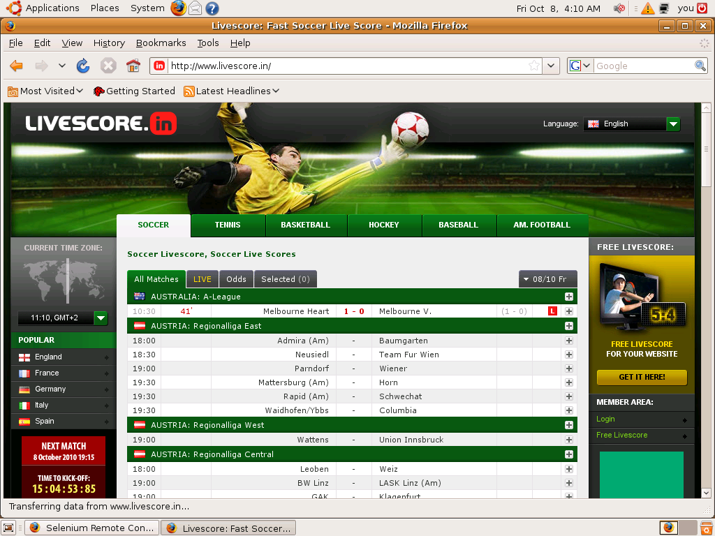scores and odds soccer bvada