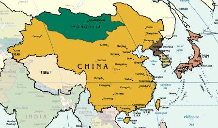 Asia Orientale Cartina Politica.Taiwan Carta Geografica