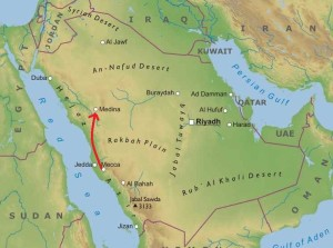 FIG.2 mappa arabia cittadinonews