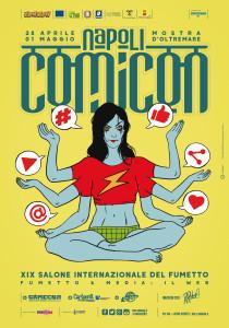 Il manifesto è stato realizzato da Roberto Recchioni riguardo il tema centrale della manifestazione: rapporto tra Fumetto e Web.